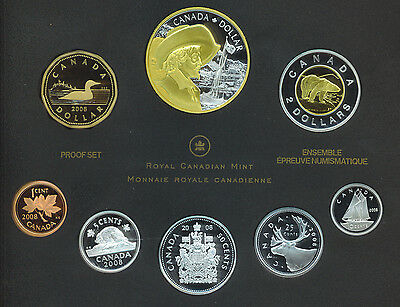 Canada 2008 Double Dollar Proof Coin Set Silver Quebec City Non Magnetic Penny