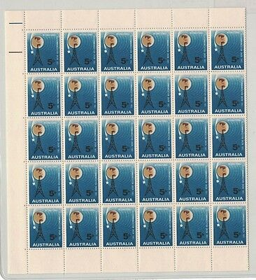 1965 Australia ITU Centenary SG 376 Sheet 60 muh folded in the middle