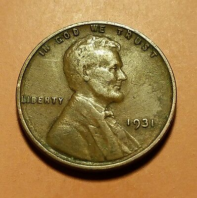 1931 P Lincoln Wheat Penny #w25537