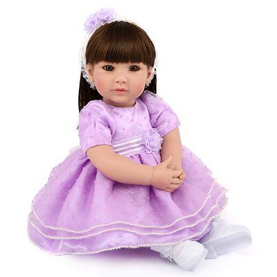 "Lifelike 20"" Toddler Girl Doll Newborn Babies Vinyl Silicone Reborn Baby Dolls"