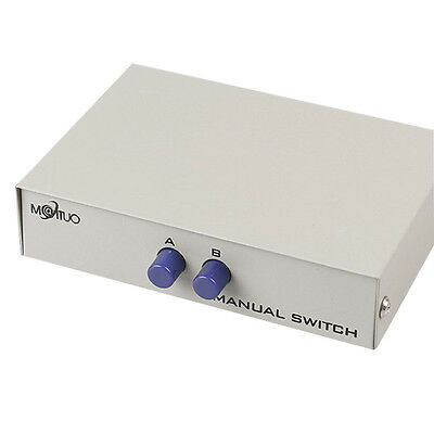 2 Way RS232 Serial Switch Box DB9 Pin Serial RS232 Manual Data for PC Sharing