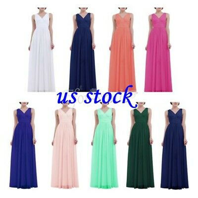 Women Evening Dress Bridesmaid Formal Long Evening Party Ball Prom Gown Dresses