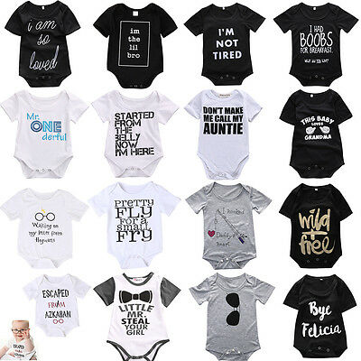 Newborn Baby Boys Girls Infant Romper Jumpsuit Bodysuit Clothes Sunsuit Outfits
