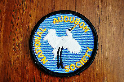 NOS National Audubon Society Embroidered Sew on only Patch Vintage Advertising