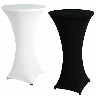 10pcs Stretch Cocktail Poseur Lycra Dry Bar Spandex Table Cover Cloth Wedding