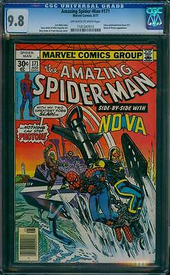 Amazing Spider-Man # 171  Side by Side with Nova !  CGC 9.8  scarce book !