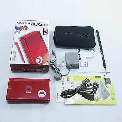 Brand New Super Mario M Red Nintendo DS Lite HandHeld Console System + gifts