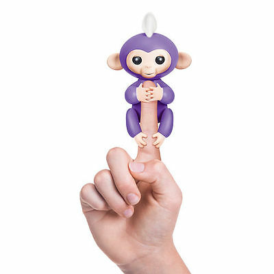 Wowwee Fingerlings Baby Monkey - Purple - Brand New