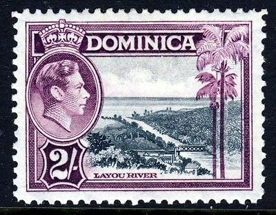 DOMINICA King George VI 1938-47 Two Shillings Slate & Purple SG 106a MINT