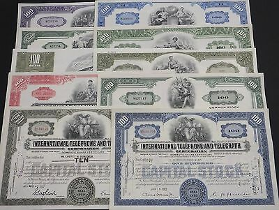 COLLECTION with 10 different USΑ Shares & Bonds Certificates LOT-44