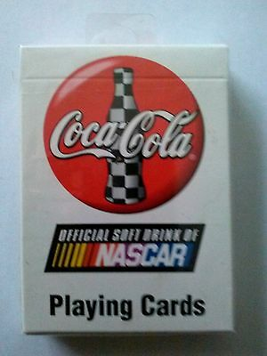 Coca Cola Playing Cards-- Official Soft Drink of NASCAR (1999) Unopened