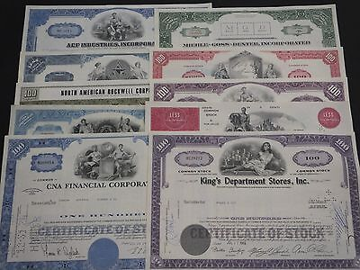 COLLECTION with 10 different USΑ Shares & Bonds Certificates LOT-47