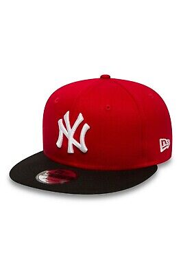 New Era Mens 9Fifty Baseball Cap.new York Yankees Red Flat Peak Snapback Hat 530