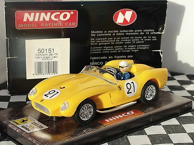 "Ninco Ferrari 250 Tr ""test A Rossa"" 1957 #21 Yellow  1:32 New Old Stock Boxed"