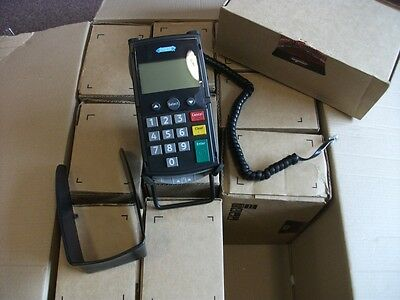 Hypercom P1100 Card Reader / Terminal with Cable & Spacepole Cradle - Ref 1777