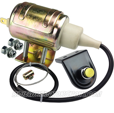 Universal Automotive Boot Trunk Hatch Solenoid Release Kit + Push Button Trigger