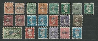 Algeria, Postage Stamp, #3//25 Used (21 Different), 1924-6 French Colony (P)