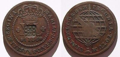 PORTUGAL , BONITOS 40 REIS DE 1786 . 31,2 gramos/40 mm