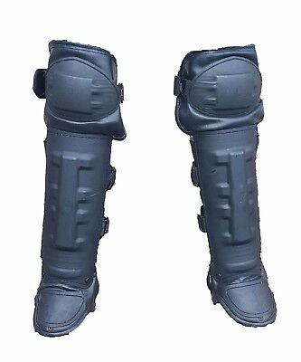 New Ex Police Riot Gear Knee & Lower Leg Shin Guards Paintballing Airsoft NRG001