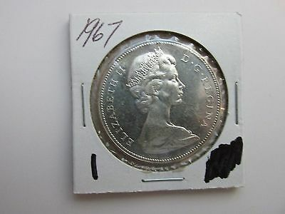 Canadian 1867-1967 Uncirculated Silver Dollar Beautiful Coin