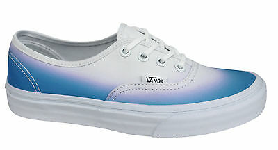 451756aa37 Vans Off The Wall Ombre Lace Up Blue White Unisex Trainers Plimsolls Vans E