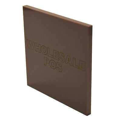 Brown 543 Acrylic Perspex Plastic Material A5 A4 & A3 3mm & 5mm Sheet Panels