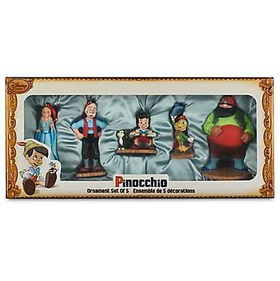 NEW DISNEY STORE Pinocchio Sketchbook Ornament Set with Collector Box