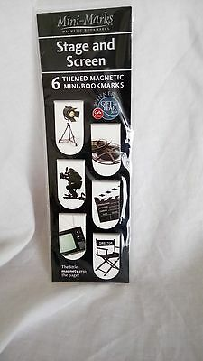 themed magnetic mini book marks stage and screen