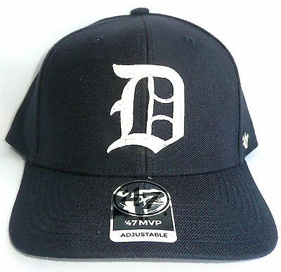 DETROIT TIGERS 47/Forty Seven Brand Adjustable MVP Hat Navy Pre-Curved Brim NEW
