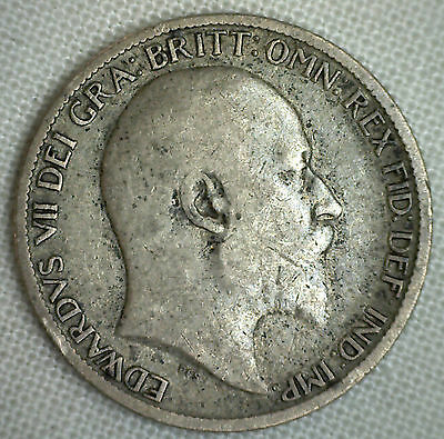 1907 Great Britain 6 Pence KM# 799 YG World Coin Silver Genuine English #P