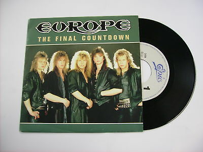 """Europe - The Final Countdown - 7"""" Vinyl Holland 1986 Excellent"""