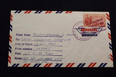 Naval Cover 1961 Ship Cancel Scott Isl Weather Uscgc Eastwind (Wagb-279) (4133)
