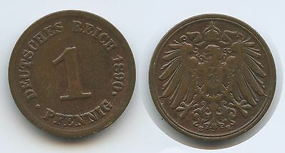 G10657 - Deutsches Reich 1 Pfennig 1890 E KM#10 Germany Empire