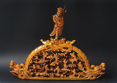 Large Antique Chinese Gilt Wood Carving