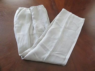 Eileen Fisher Sz S Beige LINEN Stretch Waist Casual Women's Pants EUC