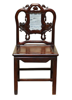 Vintage Chinese Rosewood Dream Stone Accent Chair cs2648