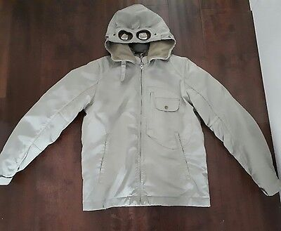 C.P company under sixteen collection  Boys goggle jacket coat , BEIGE ,age 16 /