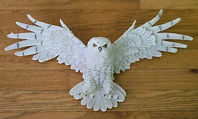 "Snowy Owl In Flight Wall Hanging Figurine 19.25"" Wing Spread Resin New In Box!"