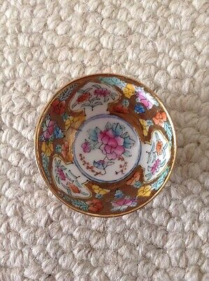 Small Chinese Bowl. Flowers.. Multicoloured.