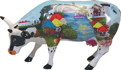 Cow Parade 2003 ALMOOSEY DOWN THE TRAIL!  #7330 Texas, NIB Retired Hard to Find!