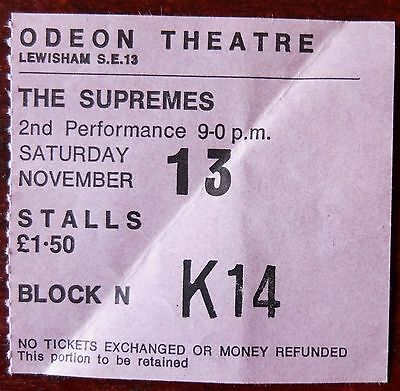 The Supremes Used Ticket Lewisham November 2Nd 1971 2Nd Performance London