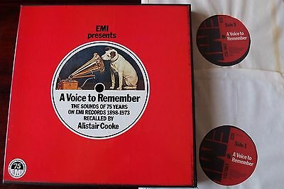 A Voice To Remember The Sounds Of 75 Years On Emi 2-Lp +Book Beatles Near Mint
