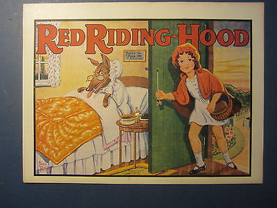 Old Vintage 1930's RED RIDING HOOD Pantomime THEATRE Mini POSTER - Fred RUSBY