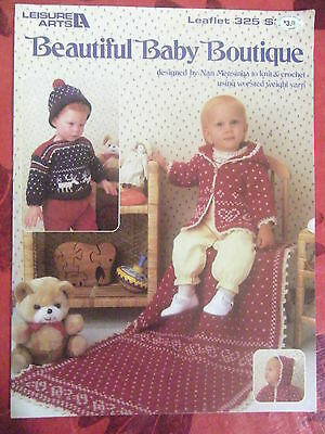 Beautiful BABY Boutique - KNITTING & CROCHET Patterns Book