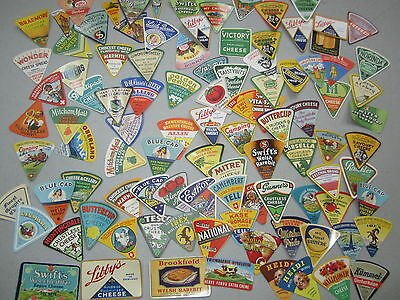 Lot of 100 Old Vintage 1930's-50's - CHEESE Labels - ALL DIFFERENT