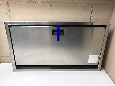 Stainless Steel Horizontal Baby Changing Station Recessed In Wall Diaper