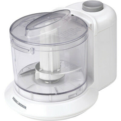 Black & Decker 1.5-Cup One-Touch Electric Chopper in White - HC306
