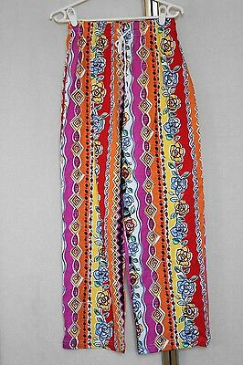 Vintage 80s 90s Bright Aztec Pattern Baggy Trousers Pants S
