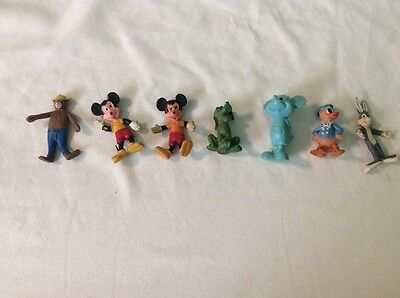 Lot Of 7 Vintage Rubber Figurines , Disney , Yogi