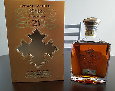 Johnnie Walker XR 21 Year Old Brand New Sealed Blended Scotch Whiskey Legacy
